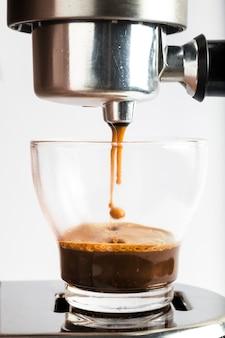 Cafetera espresso moderna.