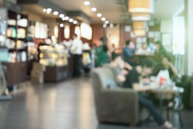 Cafetería - café borrosa de fondo con imagen de bokeh / desenfoque