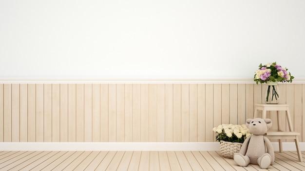 Cafetería o decoración de la habitación del niño flor - representación 3d