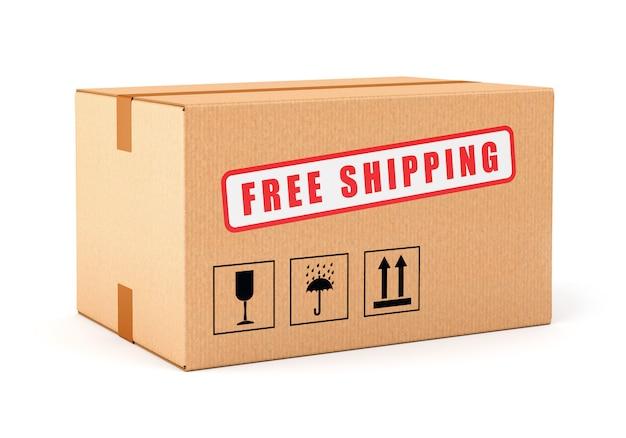 Caja de cartón de envío gratis