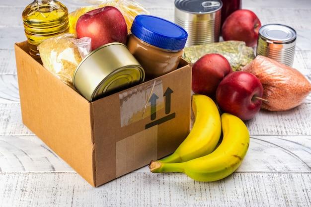 Caja de donación de alimentos