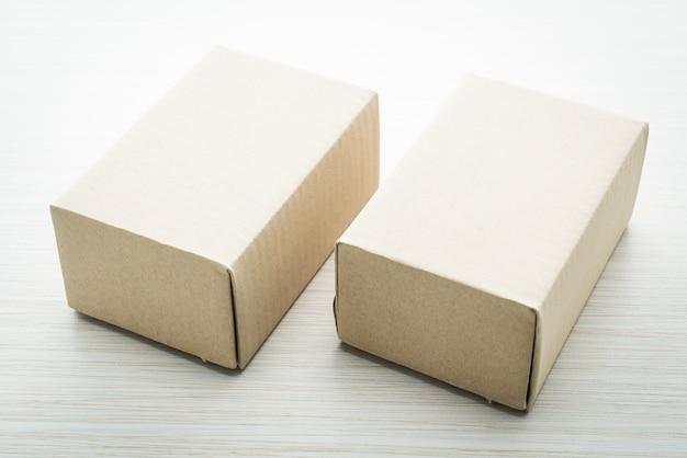 Caja marrón maqueta