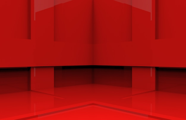 Caja de panel roja de esquina de pared.