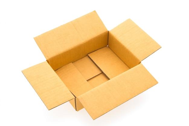 Caja de papel aislado
