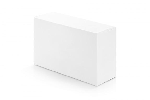 Caja de papel blanco para diseño de productos.