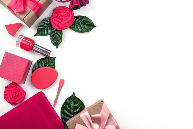 Caja de regalo accesorios de embalaje cosméticos.
