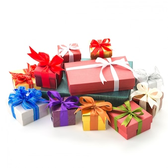 Caja de regalo aislado en blanco
