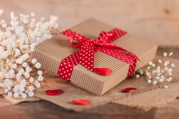 Caja de regalo el día de san valentín