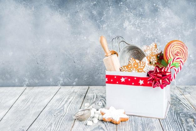 Caja con regalo de navidad para panaderos