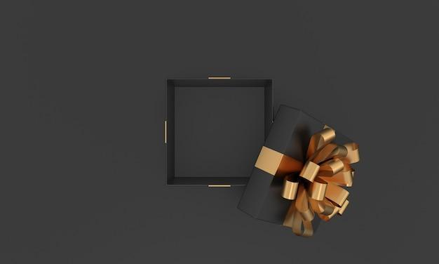 Caja de regalo vacía de navidad banner de venta abierta cumpleaños aniversario regalo de boda viernes negro