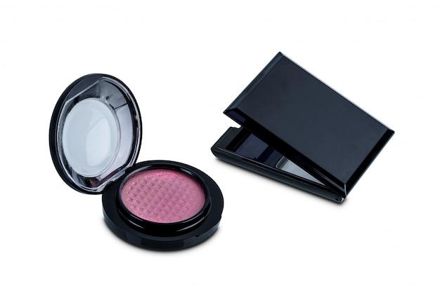 Caja vacía de uso de paleta cosmética para rellenar uso de nuevo producto aislado en blanco