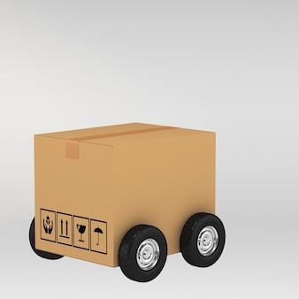 Cajas de cartón en blanco ilustración 3d