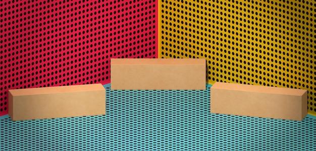 Cajas de cartón simple vista alta