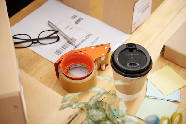 Cajas de embalaje para la entrega