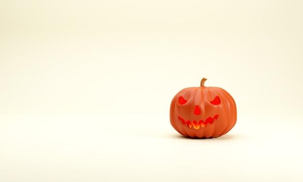 Calabaza fantasma 3d con luz interior muestra el horror de halloween