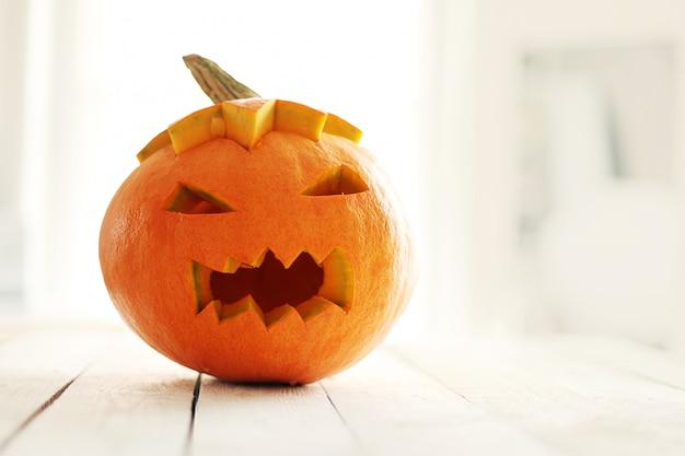 Calabaza de halloween enojada