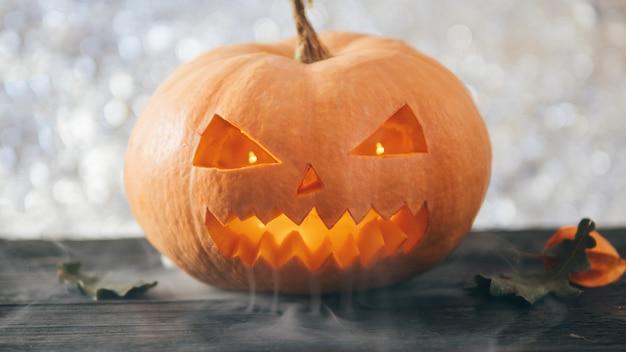Calabaza de halloween de miedo