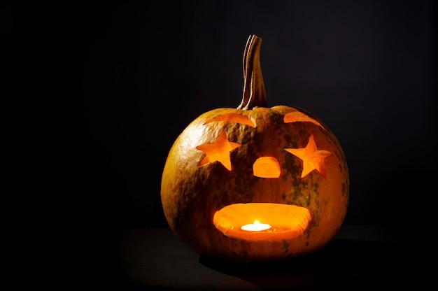 Calabaza de halloween en negro