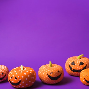 Calabazas suaves de halloween