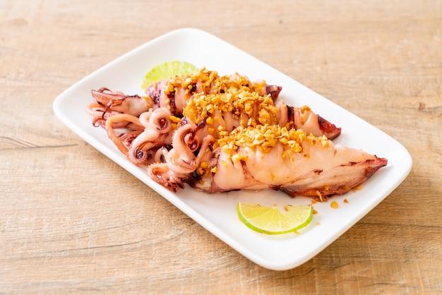 Calamares fritos con ajo