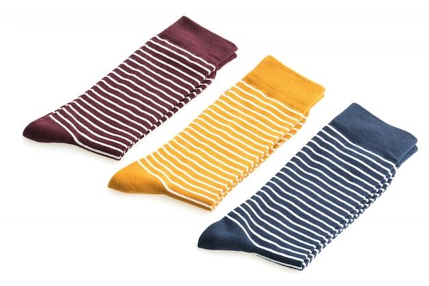 Calcetines de rayas de color elegante nueva
