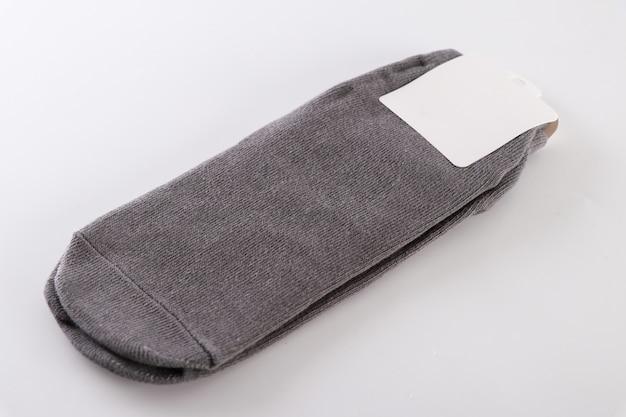 Calcetines sobre un fondo blanco