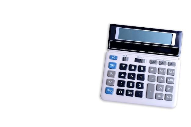 Calculadora aislado sobre fondo blanco.