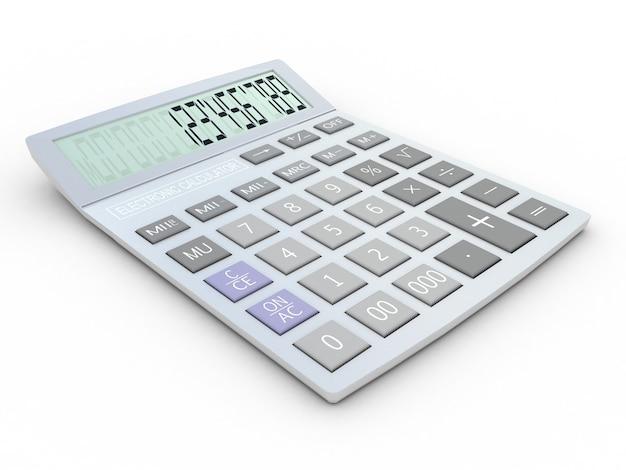 Calculadora electrónica 3d aislado