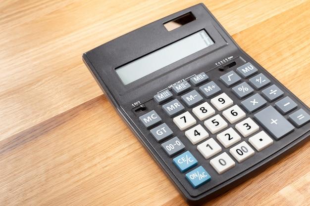 Calculadora en el escritorio