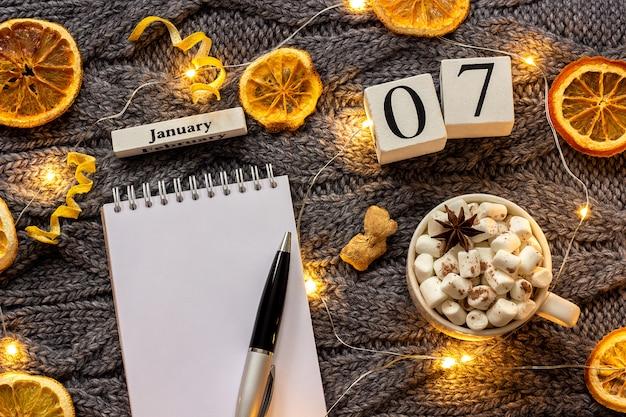 Calendario 7 de enero