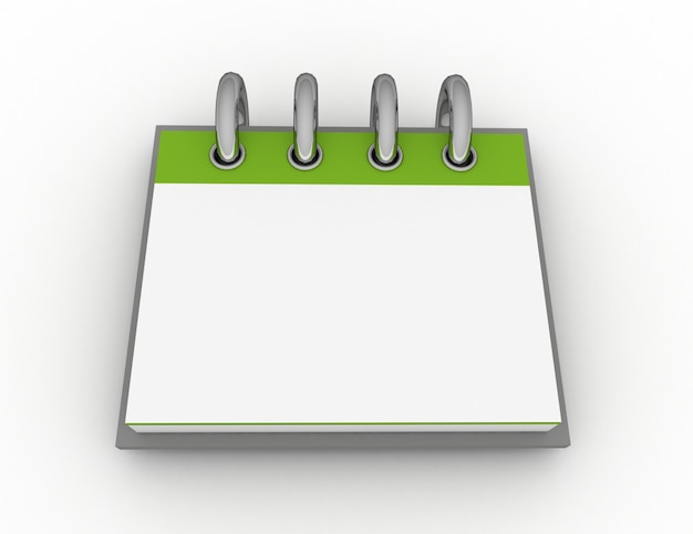 Un calendario en blanco