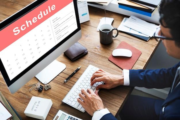Calendario de citas concepto de reunión de eventos