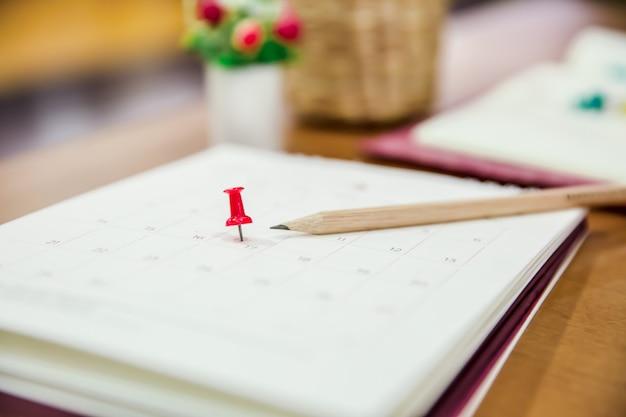 Calendario para el evento del planificador de negocios, agenda, calendario, planificación, reservas, calendario, recordatorio de pago.
