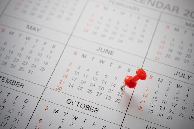 Calendario fijado el 15 de junio de 2018