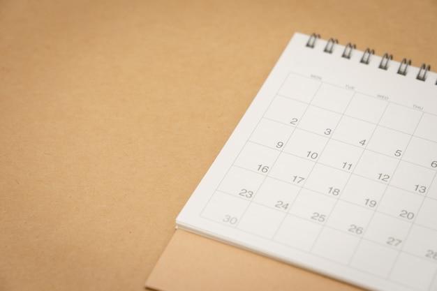 Un calendario del mes. utilizando como concepto de fondo de negocio y el concepto de planificación