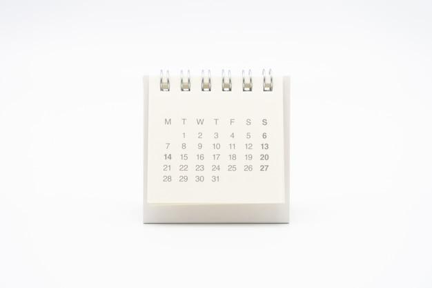 Un calendario del mes.