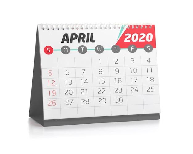 Calendario de oficina abril 2020