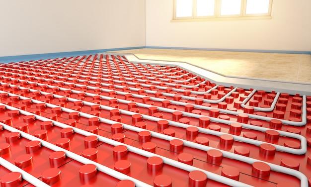 Calentador de piso radiante