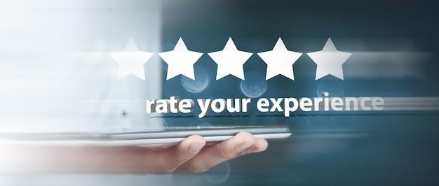 Califica tu experiencia 5 estrellas