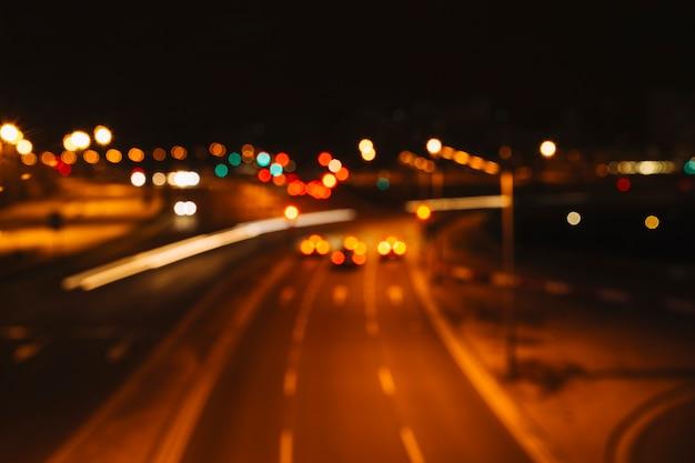 Calle borrosa de la ciudad
