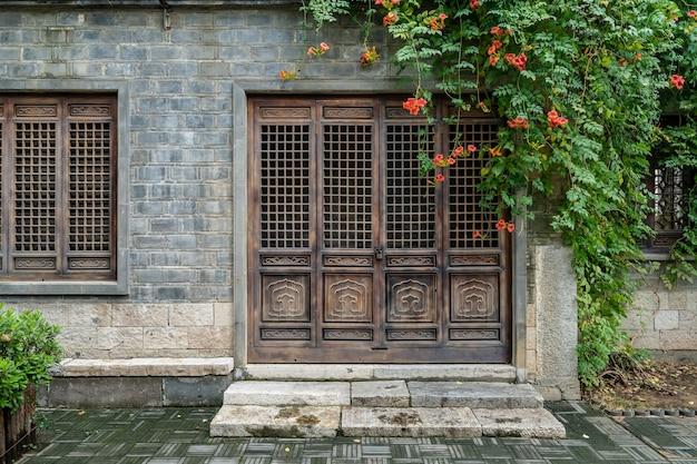 Calles de la ciudad antigua en nanjing china
