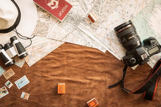 Cámara y artículos que viajan