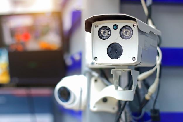 Cámara de cctv (cámara de circuito cerrado) vigilancia sistema de seguridad.