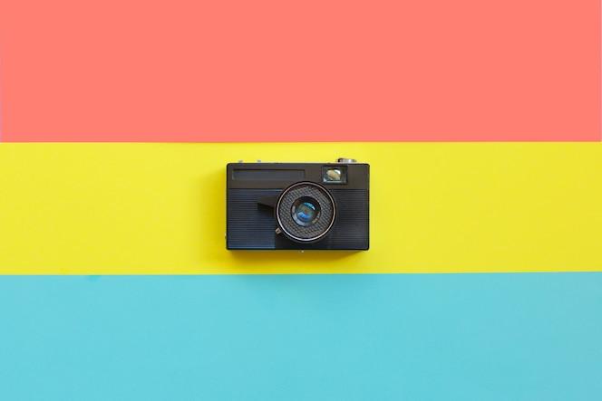 cámara de cine de moda. vibraciones de verano caliente. arte pop. cámara.