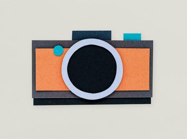 Cámara digital dispara icono de foto