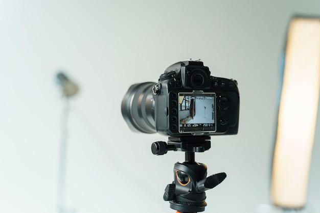 Cámara fotográfica lista para disparar