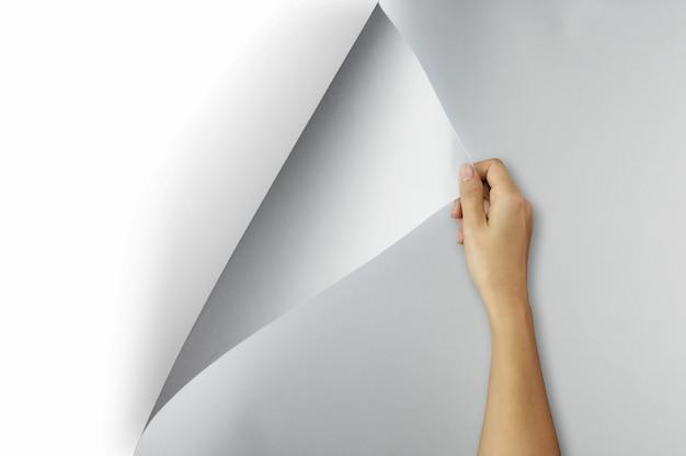 Cambiar concepto, papel abierto.