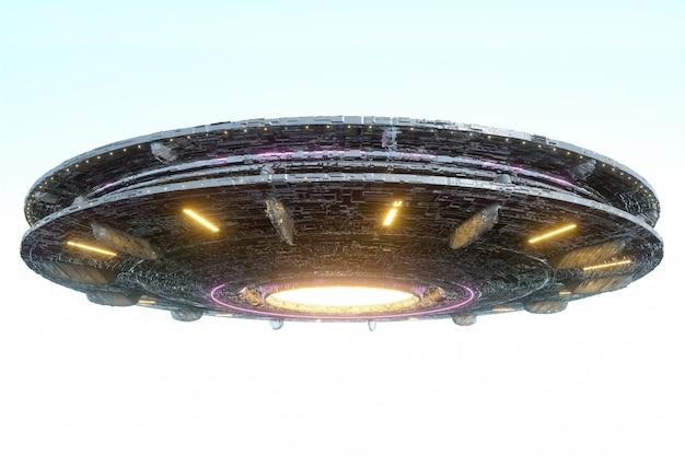 Cambio de espacio extraterrestre flotando en el cielo