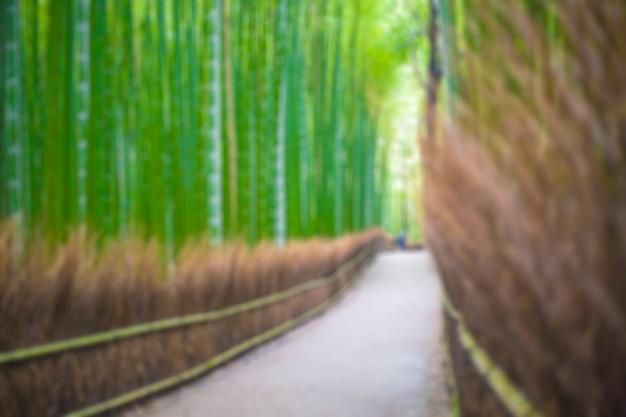 Camino al bosque de bambú, arashiyama, kyoto, japón desenfoque de fondo