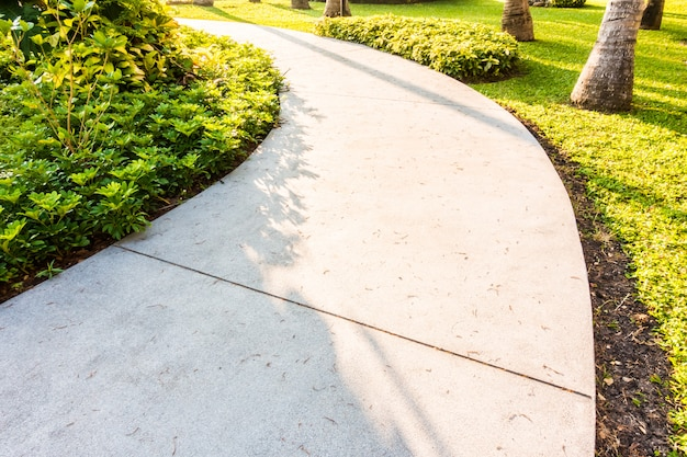 Camino de piedra camino en el jardín.